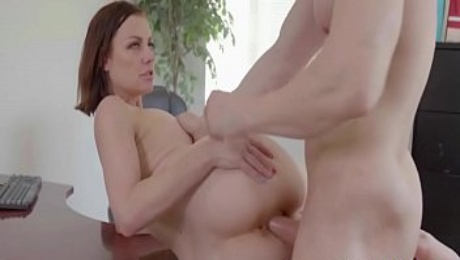 MILF Seduces The Accountant TO Save Her From Debt